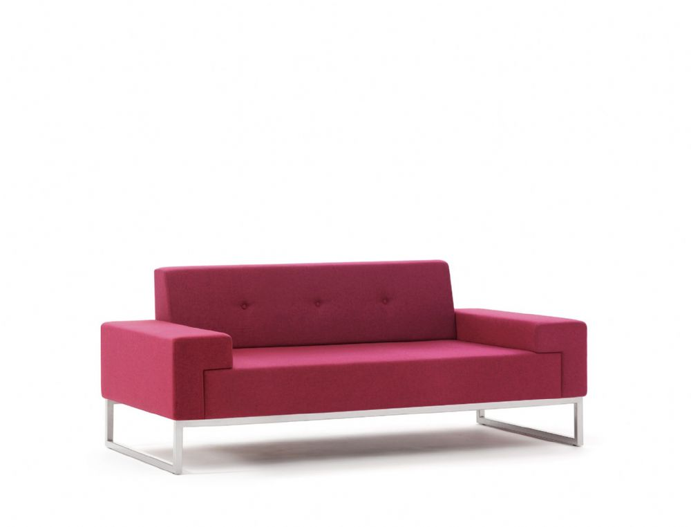 Pledge Hub Upholstered Two Seat Sofa With Steel Underframe